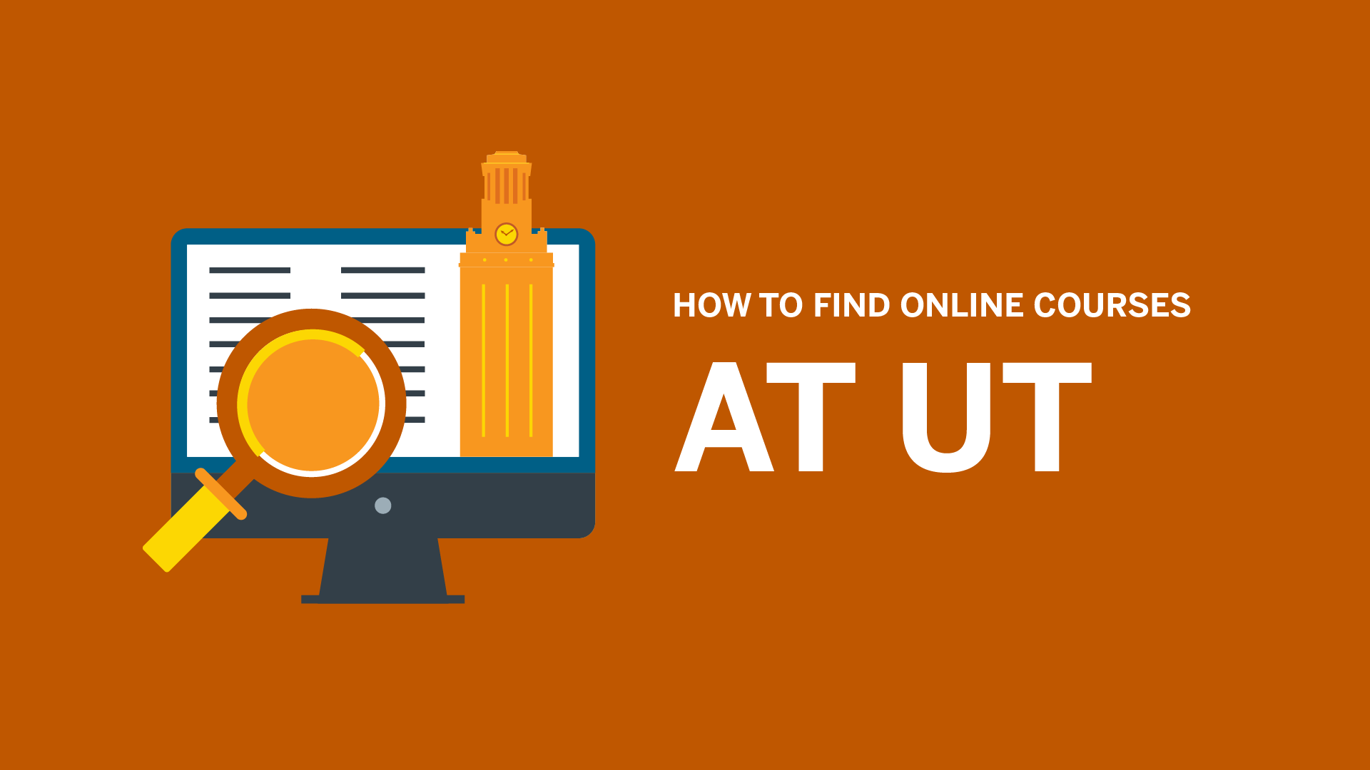 How to Find Online Courses at UT video thumbnail, click to play