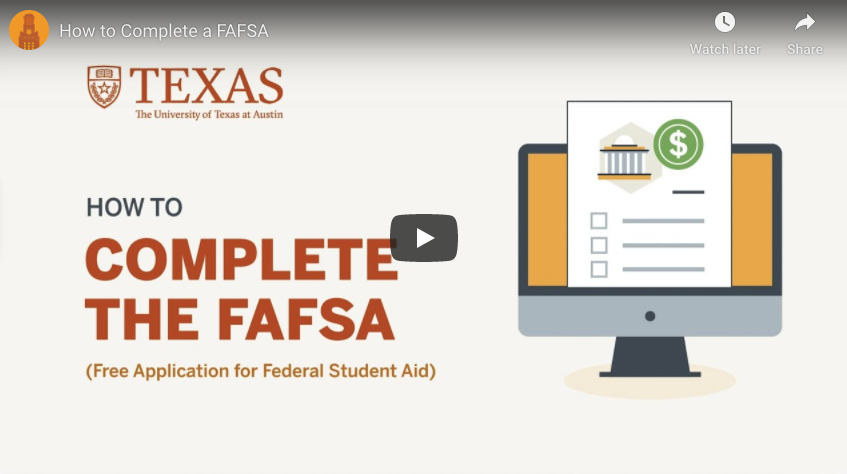 How to Complete a FAFSA video